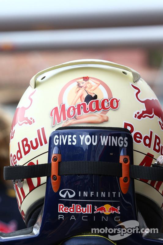 The helmet of Sebastian Vettel, Red Bull Racing