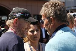 (Soldan-Sağa): Ron Howard, Film Direktör ve Eddie Jordan, BBC TV sunucusu