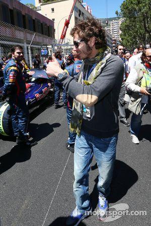 Valentino Rossi, Moto GP coureur, op de grid