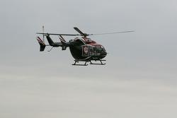 Green flag arrives via helicopter