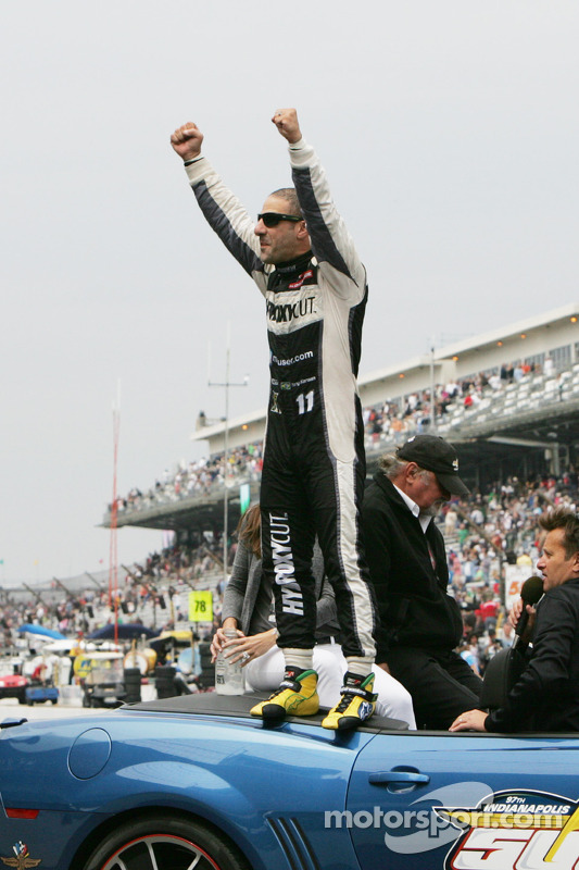 Race winner Tony Kanaan