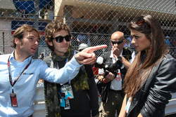 Valentino Rossi, Moto GP rider with his girlfriend Linda Morselli, Sky Sports F1 TV Presenter, on the grid