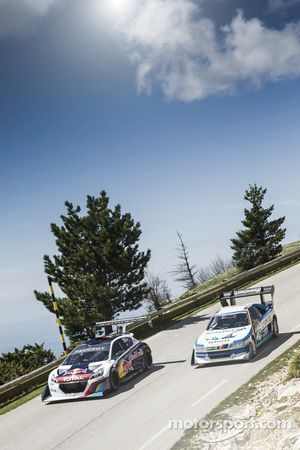 Sébastien Loeb testet den Peugeot 208 T16 Pikes Peak am Mont Ventoux