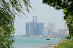 Een overzichtsfoto van Detroit