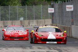 #63 Scuderia Corsa Ferrari 458: Jeff Westphal, Alessandro Balzan #31 Marsh Racing Corvette: Boris Sa