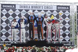 DP Podium: race winners Max Angelelli, Jordan Taylor, second place Christian Fittipaldi, Joao Barbosa, third place Enzo Potolicchio, Ryan Dalziel