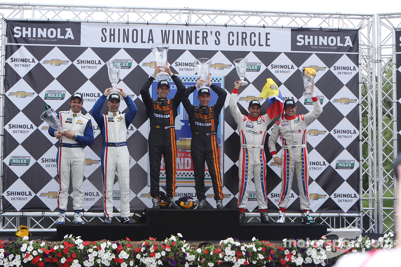 DP Podium: racewinnaars Max Angelelli, Jordan Taylor, 2e plaats Christian Fittipaldi, Joao Barbosa,