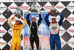 1er Mike Conway, Dale Coyne Racing Honda, 2e Ryan Hunter-Reay, Andretti Autosport, 3e Justin Wilson,