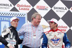 Mike Conway, Dale Coyne Racing Honda, avec Dale Coyne et Justin Wilson