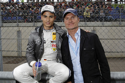Pascal Wehrlein, Mercedes AMG DTM-Team Mücke DTM Mercedes AMG C-Coupe and David Coulthard
