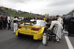 La voiture de Timo Glock, BMW Team MTEK BMW M3 DTM