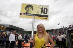 Gridgirl of Robert Wickens, Mercedes AMG DTM-Team HWA DTM Mercedes AMG C-Coupe