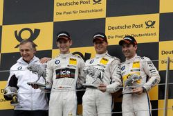 Podium, Charly Lamm, Team manager BMW Team Schnitzer, 2nd Marco Wittmann, BMW Team MTEK BMW M3 DTM, 1st Bruno Spengler, BMW Team Schnitzer BMW M3 DTM, 3rd Timo Glock, BMW Team MTEK BMW M3 DTM