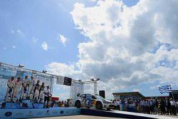 1er Jari-Matti Latvala et Miikka Anttila, Volkswagen Polo WRC, Volkswagen Motorsport, 2e Daniel Sord
