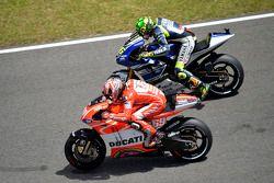 Nicky Hayden, Ducati Team y Valentino Rossi, Yamaha Factory Racing