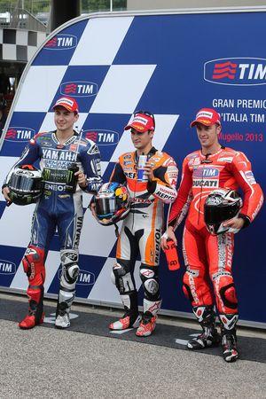 Dani Pedrosa, Jorge Lorenzo, Andrea Dovizioso
