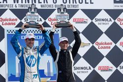 Race winner Simon Pagenaud, third place Mike Conway