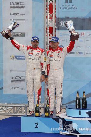 Second place Daniel Sordo and Carlos del Barrio, Citroen DS3 WRC, Citroën Total Abu Dhabi World Rall