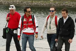 Felipe Massa, Ferrari with brother Dudu and Nicolas Todt, Driver Manager