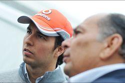 Sergio Perez, McLaren with his father Antonio Perez