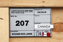 Mercedes AMG F1 freight box