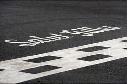 Salut Gilles - tribute to Gilles Villeneuve on the start line