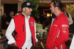 Press conference, Yvan Muller, Chevrolet Cruze 1.6T, RML et James Thompson, Lada Granta, LADA Sport Lukoil