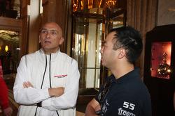 Coletiva, Gabriele Tarquini, Honda Civic, Honda Racing Team J.A.S. e Darryl OYoung, BMW E90 320 TC,