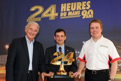 ORECA Group Presidente Hugues de Chaunac, ACO Presidente Francois Fillon e Rebellion Racings Bart Ha