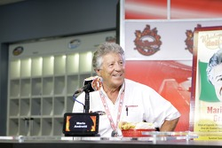 Mario Andretti in a sub eating contest
