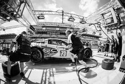 Pit stop practice at #73 Corvette Racing Corvette C6.R