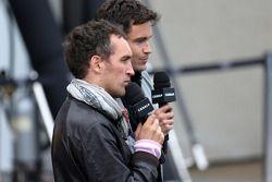 Thomas Senecal, Canal+ F1 Şef Editörü ve TV Sunucusu ve Franck Montagny, Canal+ TV Sunucusu