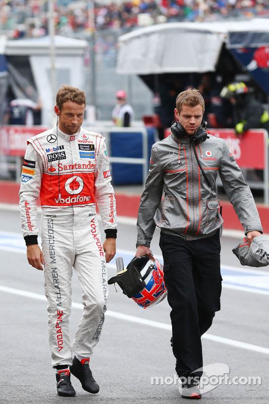 Jenson Button, McLaren com Mike Collier, Personal Trainer