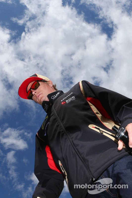 Kimi Raikkonen, Lotus F1 Team no desfile de pilotos