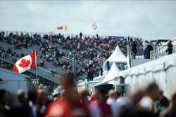 Canadian flag in the paddock