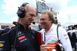 Adrian Newey, Red Bull Race and Bob Fernley, Force India F1 Team
