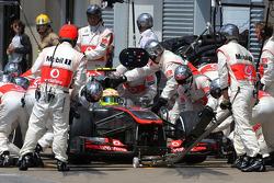 Sergio Pérez, McLaren Mercedes en pitstop