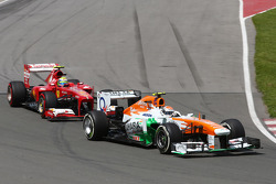 Adrian Sutil, Sahara Force India VJM06 voor Felipe Massa, Ferrari F138