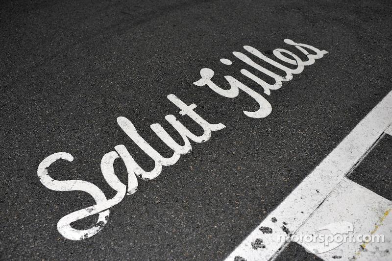 Een bericht voor Gilles Villeneuve