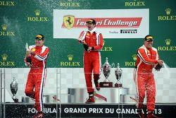 Coppa Shell podium: winnaar Marc Muzzo, 2e plaats Brent Lawrence, 3e plaats Jon Becker