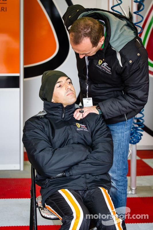 Rui Aguas com AF chefe da equipe Amato Ferrari