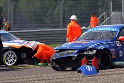 Crash, Fredy Barth, BMW E90 320 TC, Wiechers-Sport and Charles Ng, BMW E90 320 TC, Liqui Moly Team Engstler