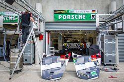Porsche AG Team Manthey pit area