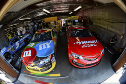 Kyle Busch and Matt Kenseth garage area