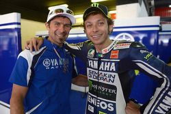 Cyril Despres and Valentino Rossi