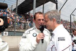 Dirk Adorf with Jens Marquardt, BMW Motorsport Director