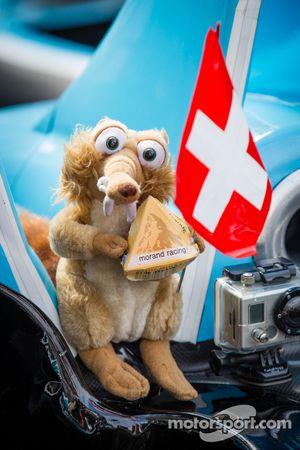 La mascota del #43 Morand Racing Morgan LMP2 Judd