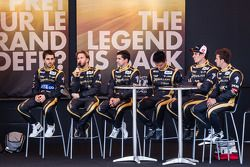 Nicolas Prost, Nick Heidfeld, Neel Jani, Congfu Cheng, Andrea Belicchi e Mathias Beche