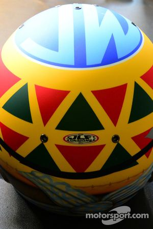 A special helmet design for Mike Conway
