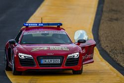 Audi R8 safety car in Indianapolis voor de sessie start